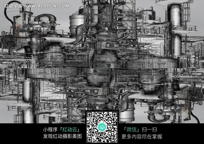 复杂的机械设计草图图片