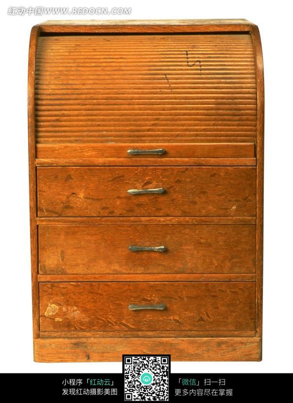 一个复古旧木柜子图片