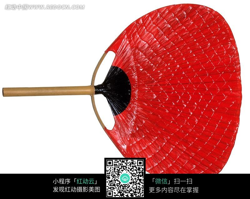红色蒲扇图片