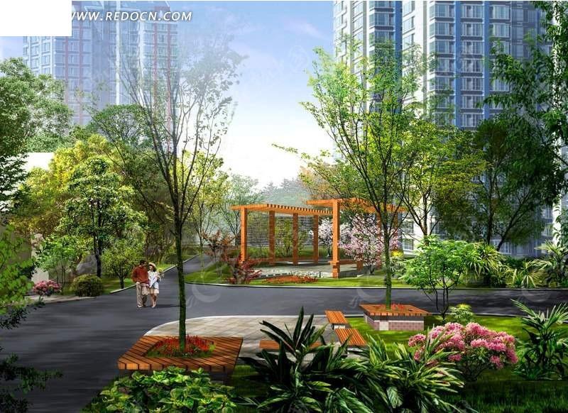 psdpsd风景psd分层素材素材v风景小区园林设计的设计师台湾上海图片