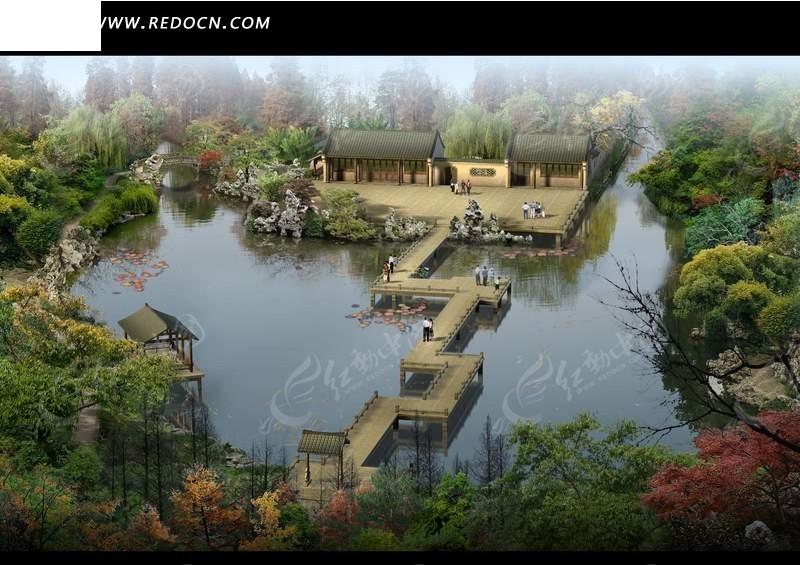园林设计规划鸟瞰图
