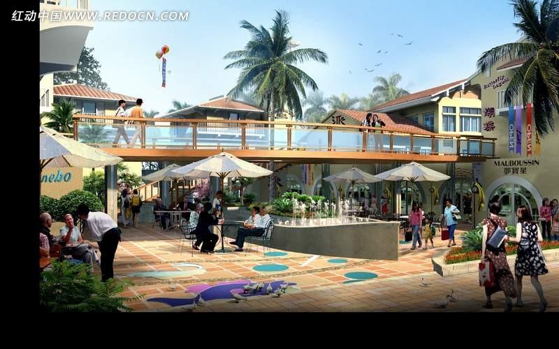 城市休闲广场设计效果图