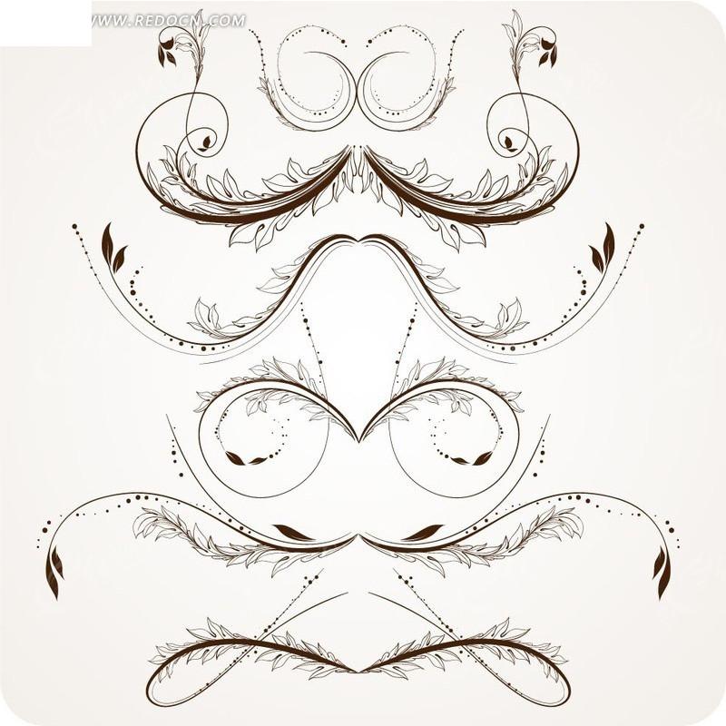 免费素材 矢量素材 花纹边框 流行元素 欧式藤蔓花纹