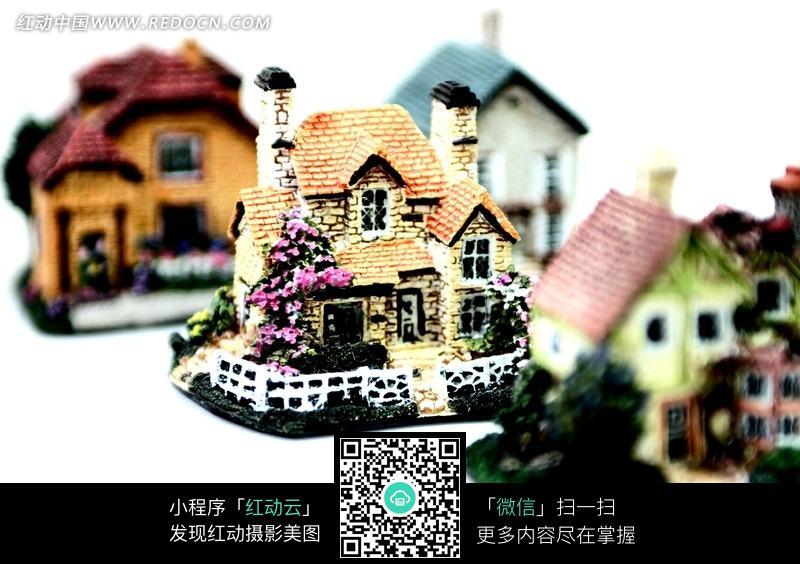四个欧式模型别墅