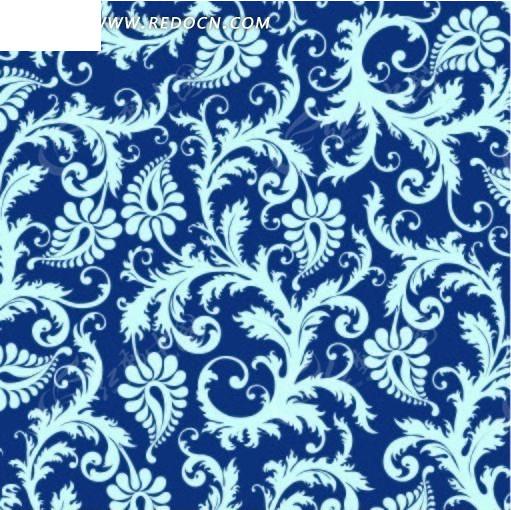 蓝色欧式古典壁纸贴图