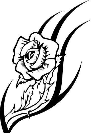 时尚手绘花纹矢量图_流行元素