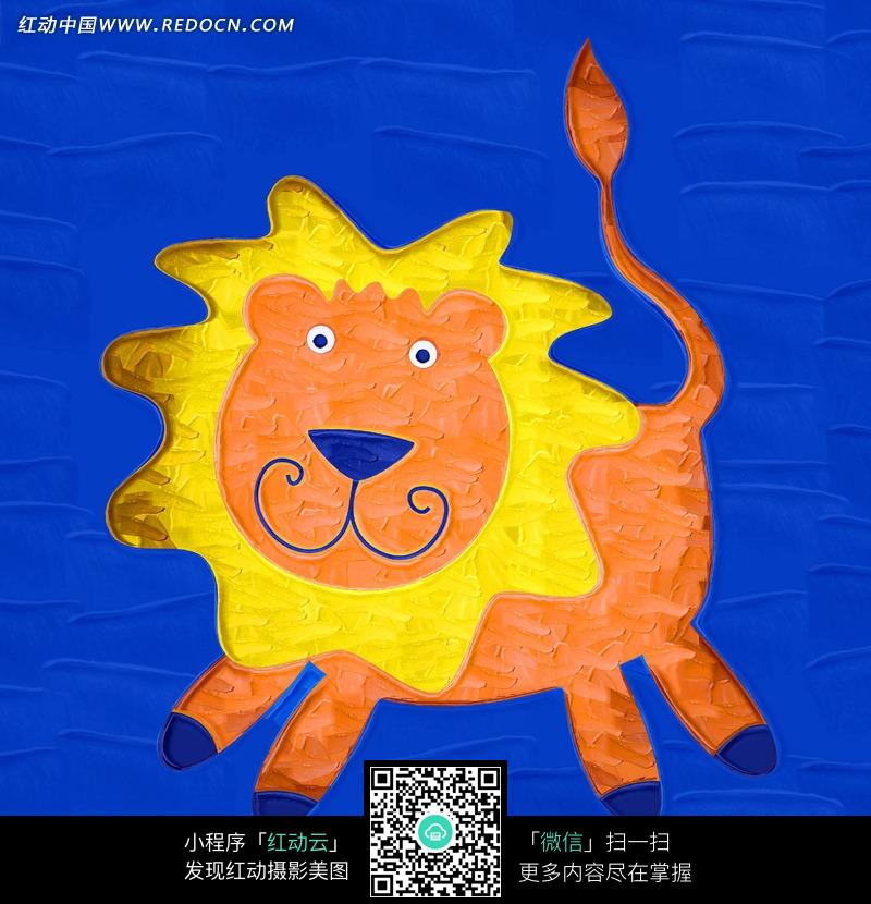 狮子绘画_书画文字图片