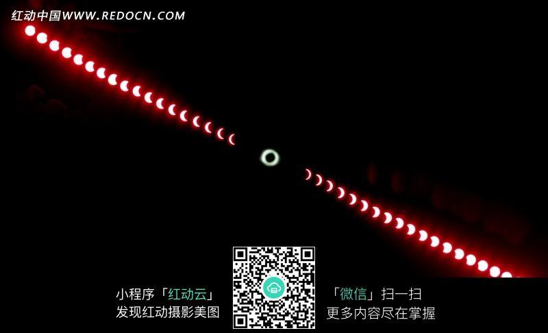 黑色背景上的月亮的不同形态图片