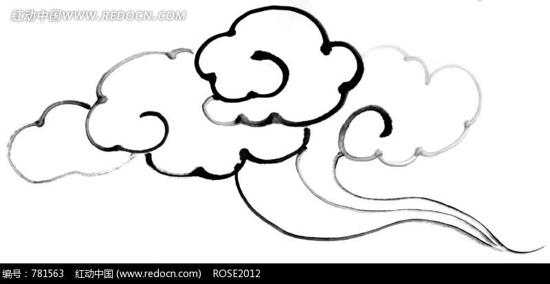 造型奇异的云朵简笔画图片