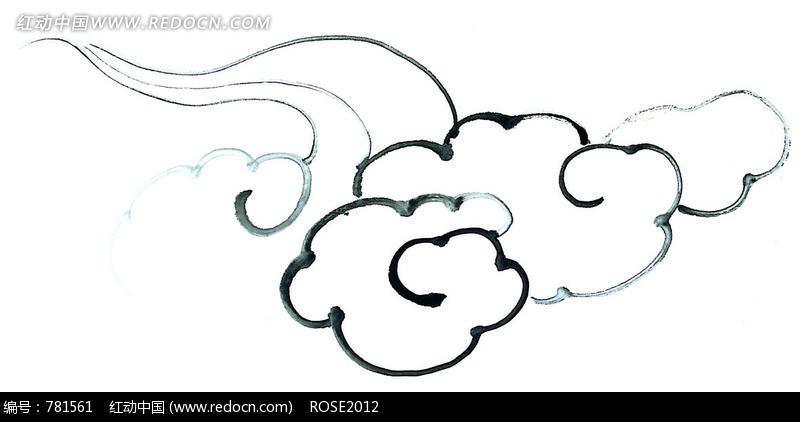 简笔画造型奇的异黑白云朵图片免费下载 编号781561 红动网
