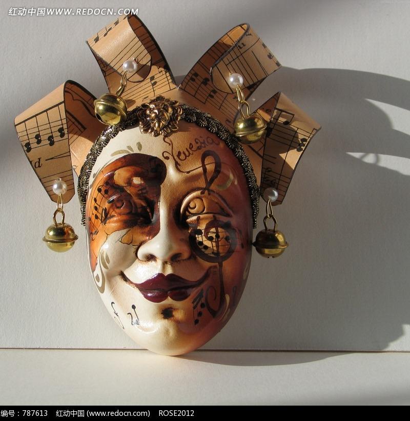 其他 画着音符的面具  请您分享: 素材描述:红动网提供其他精美素材图片