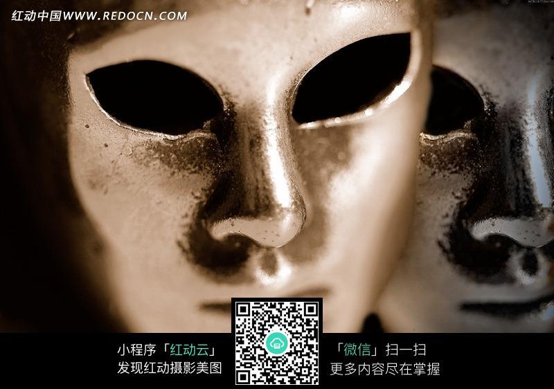 金色金属面具图片