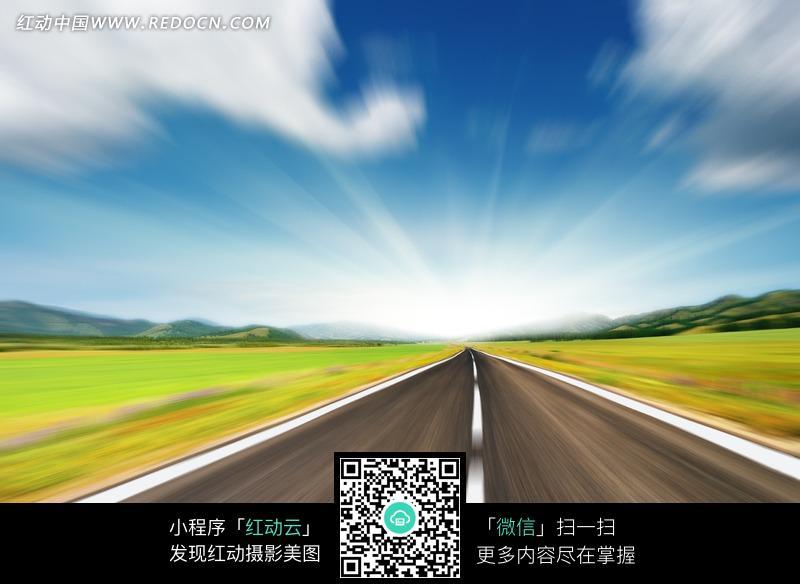 副驾驶前方风景图片