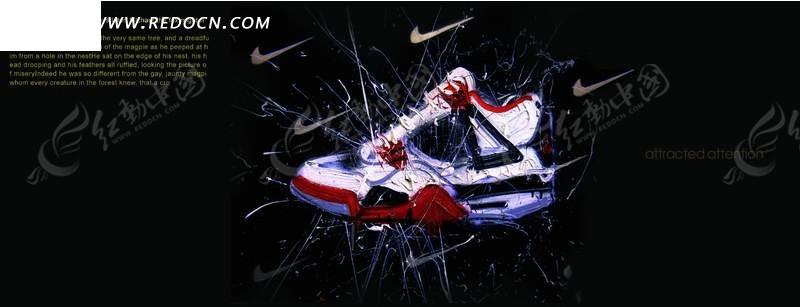 耐克运动鞋创意广告psd素材图片