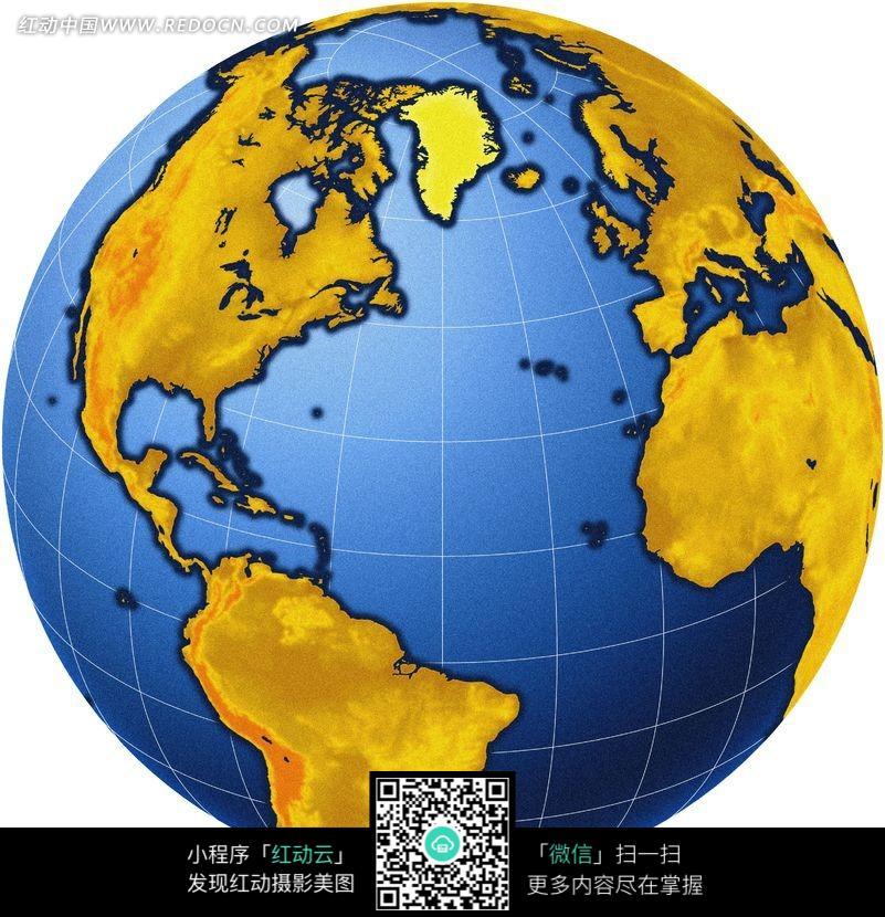 经纬度彩色地球仪