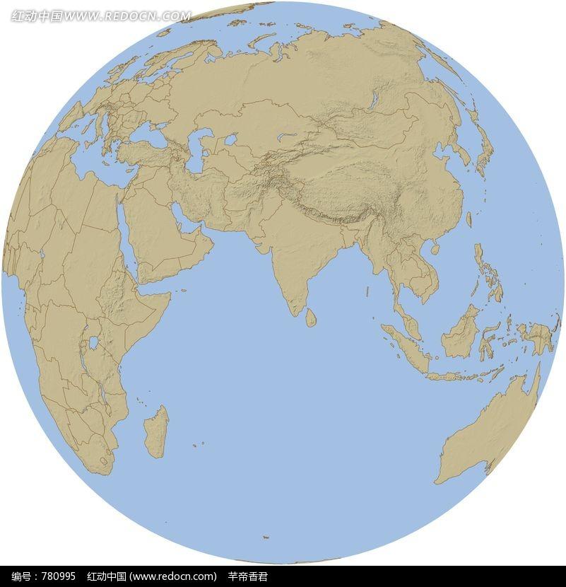 淡蓝色世界地图ppt模板