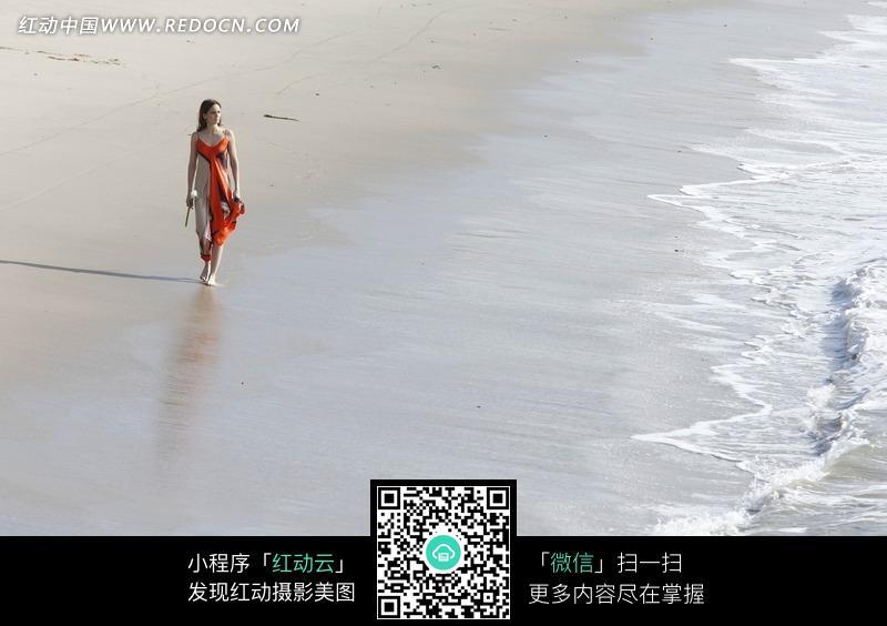 海边海滩休闲美女美女图