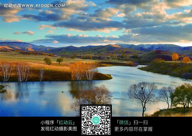 免费素材 图片素材 自然风光 自然风景 迷人的草原河流美景图片  请您