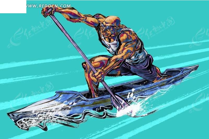 男子单人皮划艇鼠绘弈招围棋网图片
