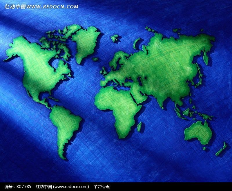 手绘世界地图图片
