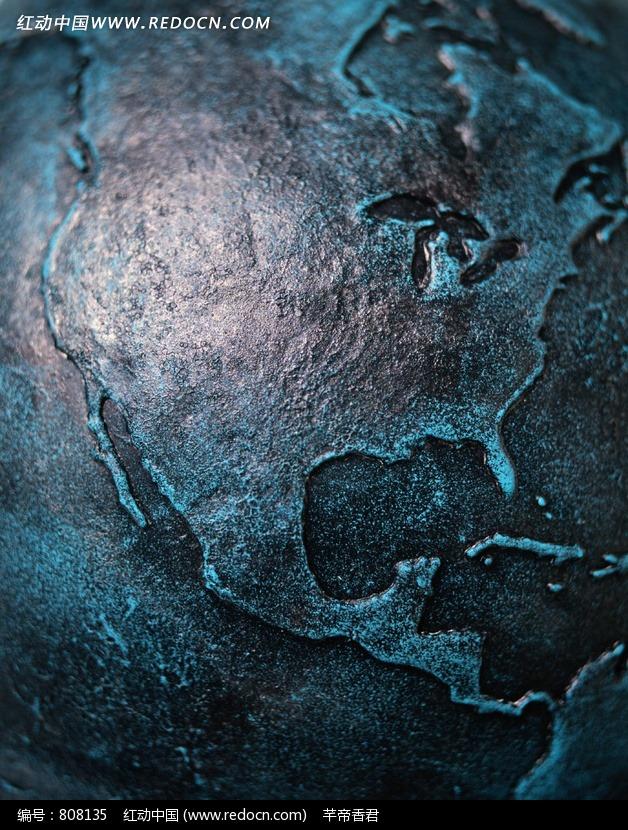 银色创意世界地图图片