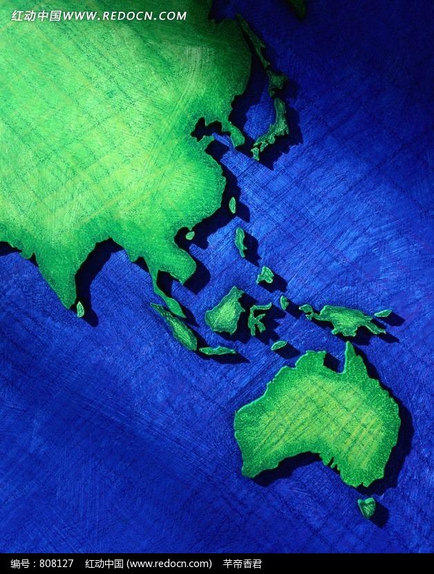 绿色创意世界地图图片