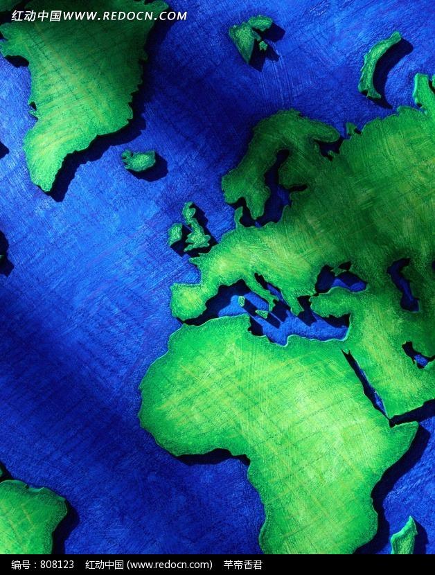 绿色创意世界地图图片素材图片