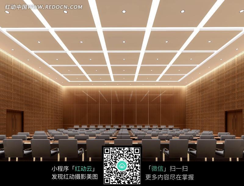 大气多功能厅室内装修效果图设计图片图片
