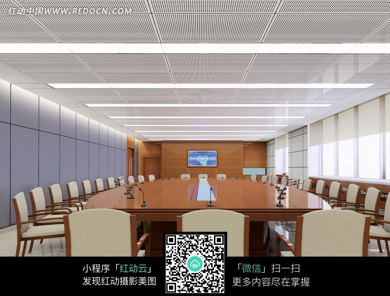 大型简约会议室图片图片