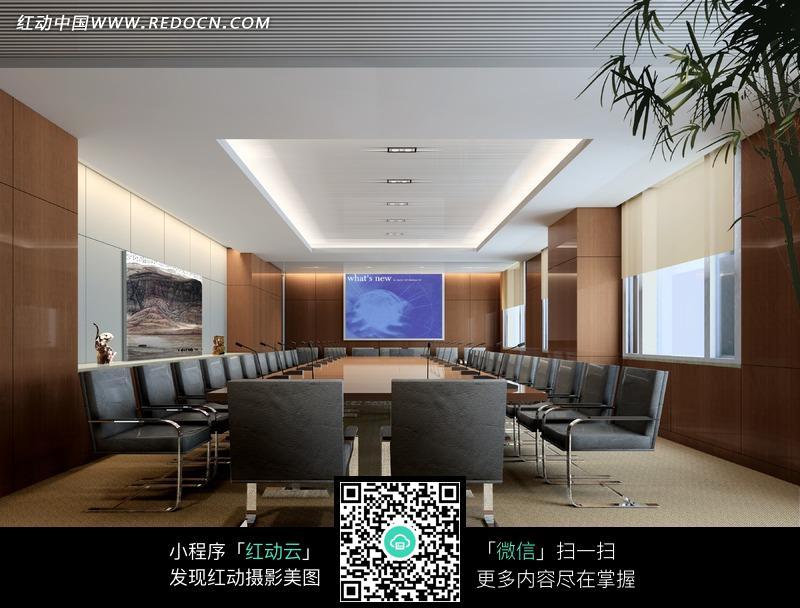 大方的现代会议室图片