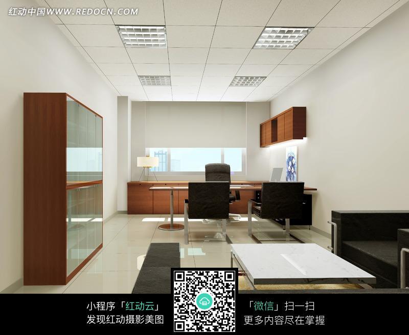 单间 领导 老板 办公室 室内效果图 温馨简约的领导办公室 室内设计 摄高清图片