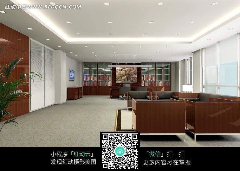 单间 领导 老板 办公室 室内效果图 经典领导办公室效果图 室内设计 摄高清图片