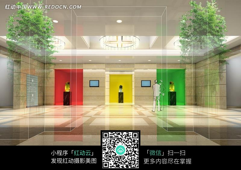 彩色大堂设计效果图图片