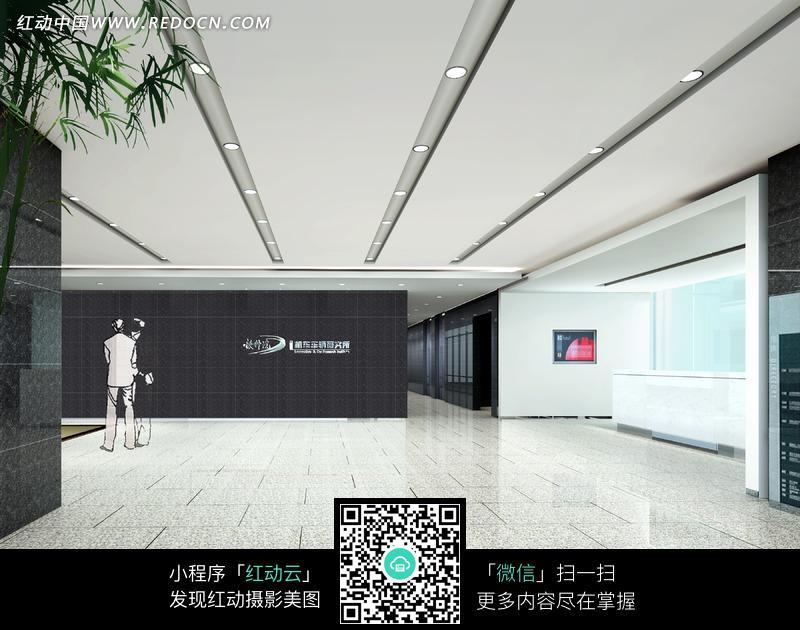 黑色墙面的大厅设计效果图图片高清图片