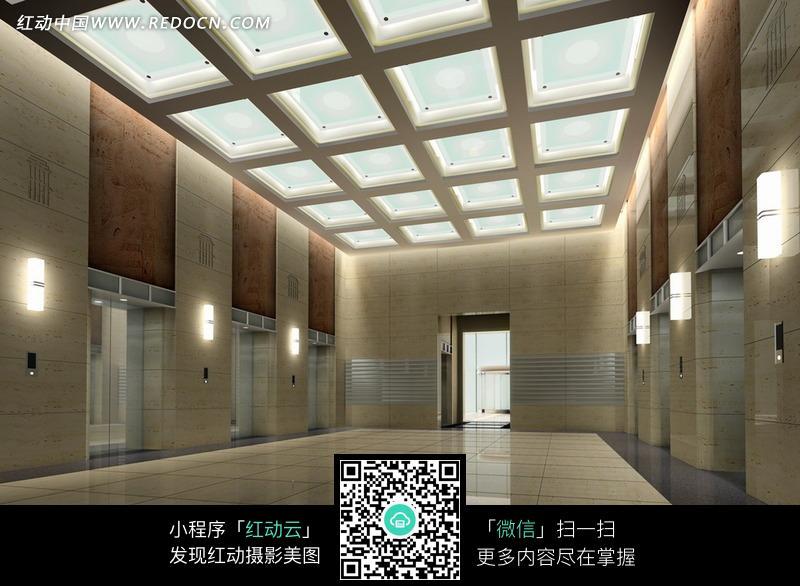 豪华高大的电梯间设计图片图片