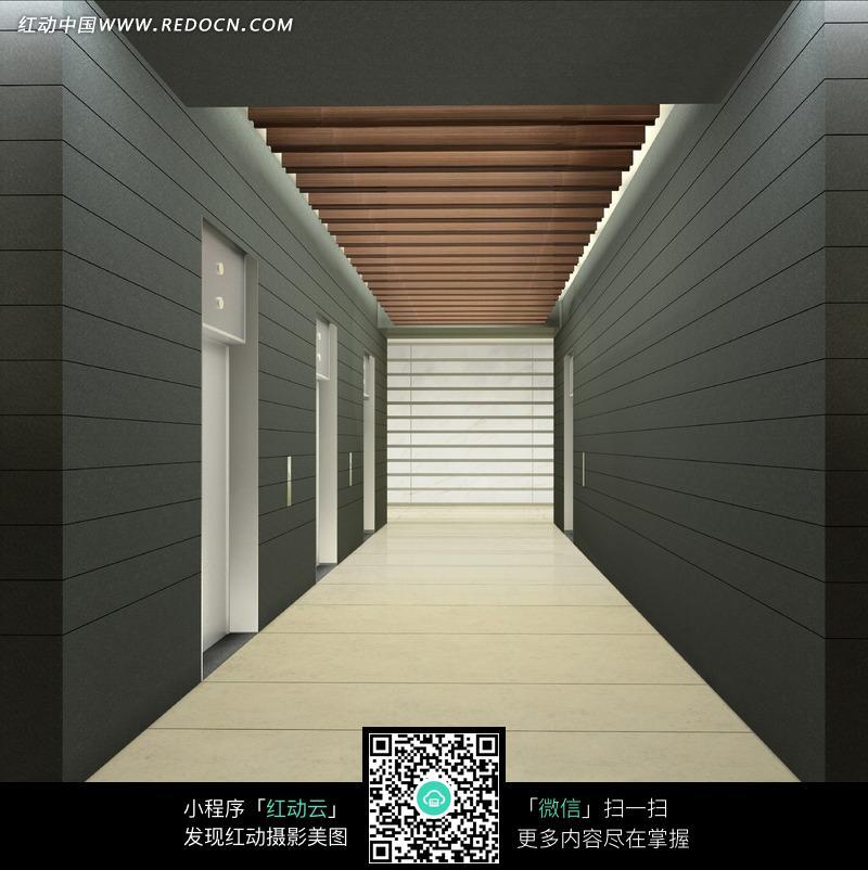 电梯间效果图设计图片
