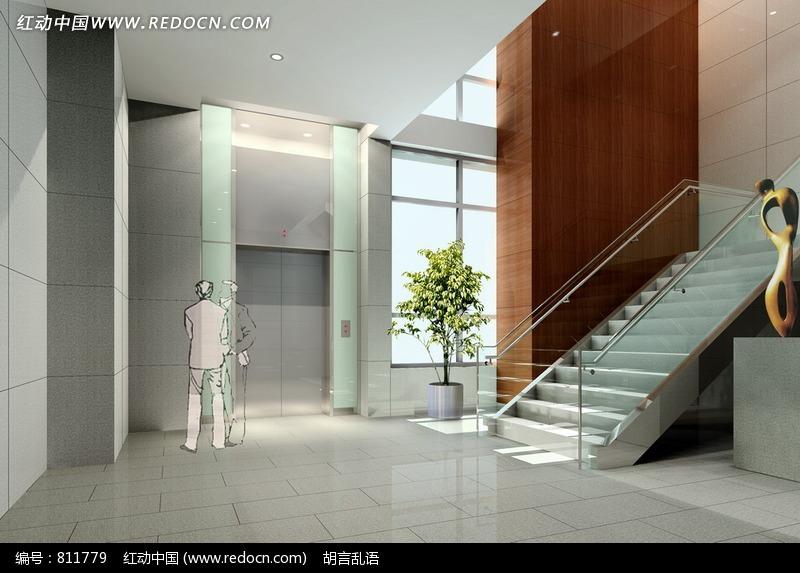 现代室内楼梯间设计效果图