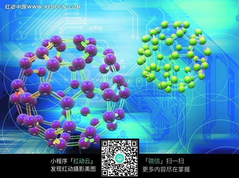 高科技分子物理结构图图片