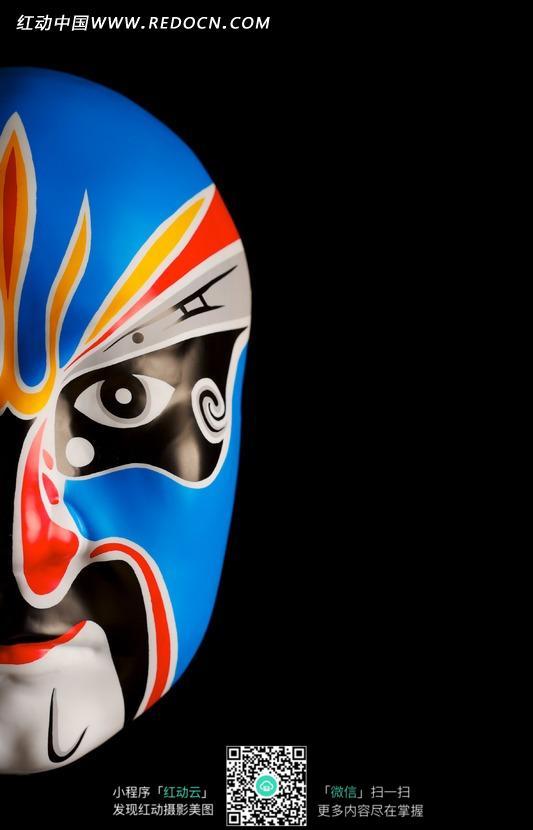 一个花脸的京剧脸谱面具图片图片