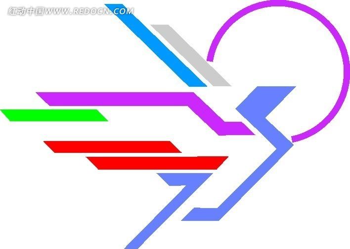 创意形状标志logo设计图片