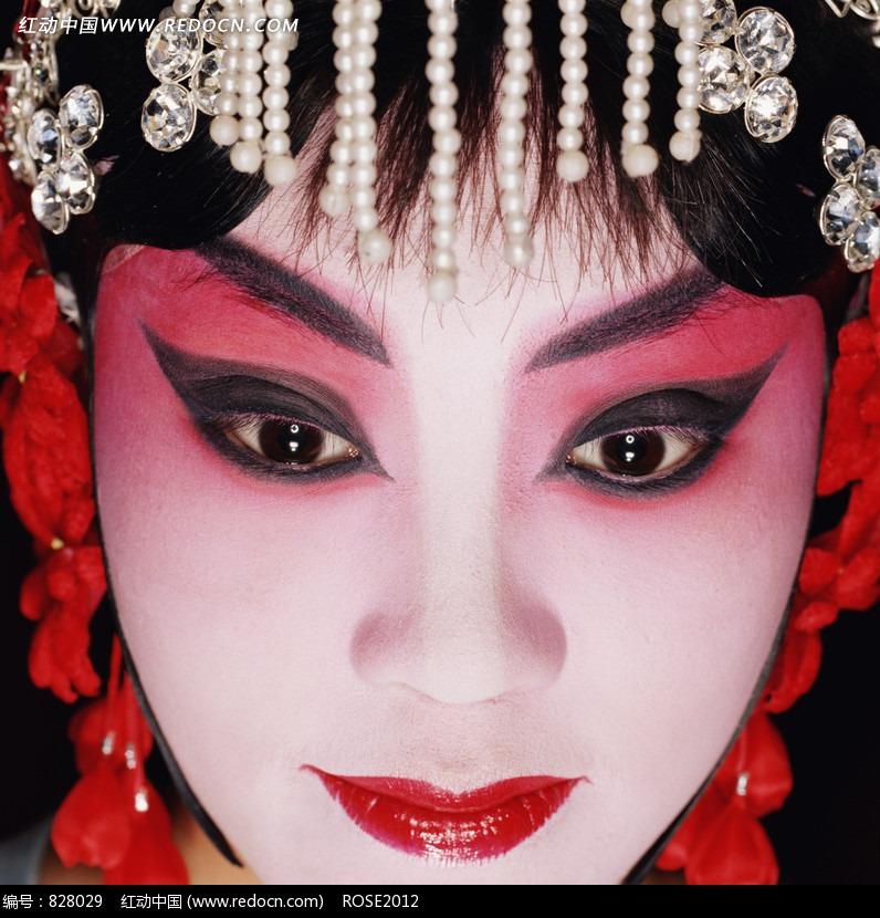 免费素材 图片素材 人物图片 其他人物 画着浓妆的美丽的京剧花旦