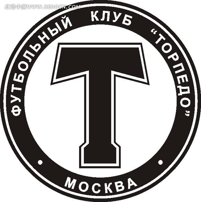 黑色圆形英文字大t标志设计[矢量图.cdr]