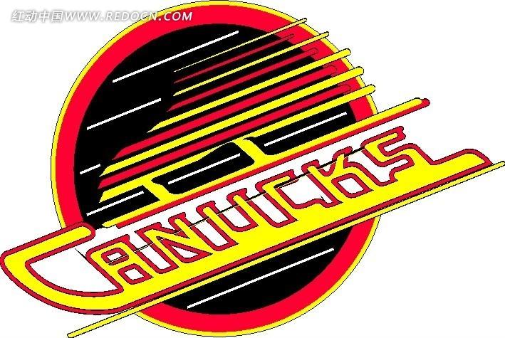 canucks冰球队矢量标志设计