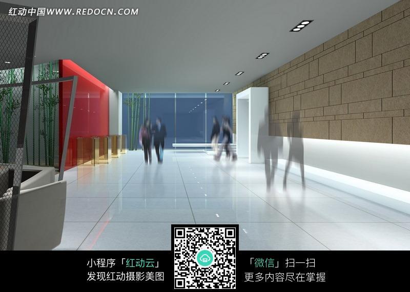大理石地面的展厅效果图图片高清图片