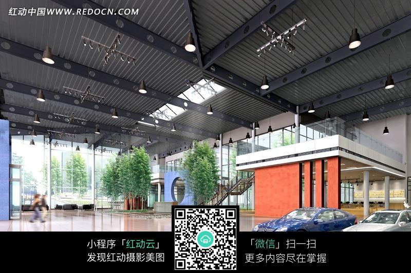 大型汽车展厅效果图设计图片