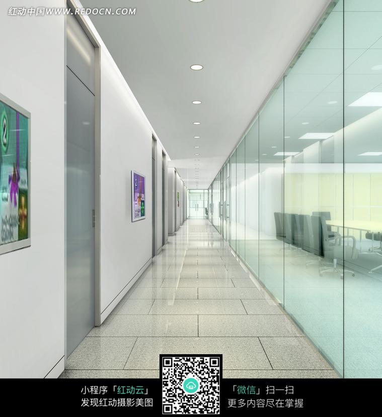 素雅明亮的走廊设计图图片