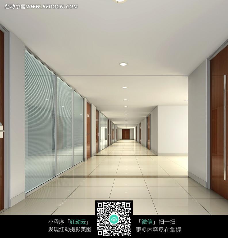 宽敞的走廊设计图图片