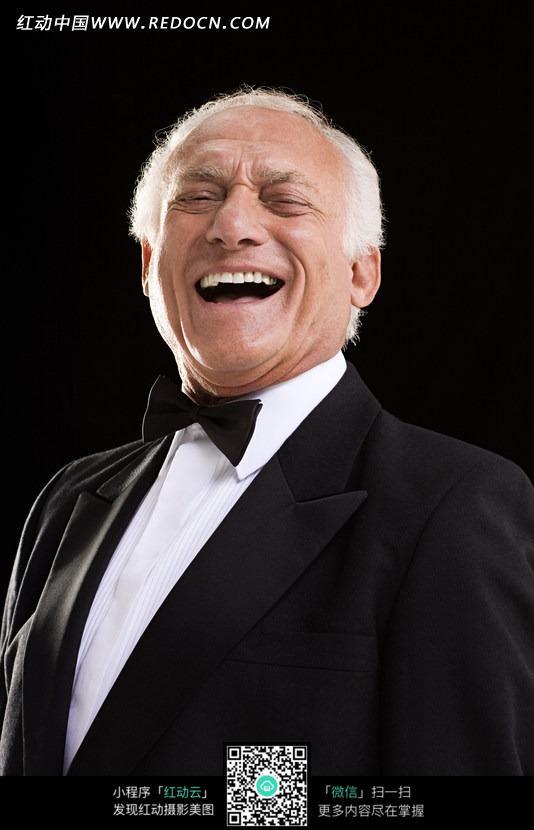 免费psd名片模板_开怀大笑的外国老人图片免费下载_红动网