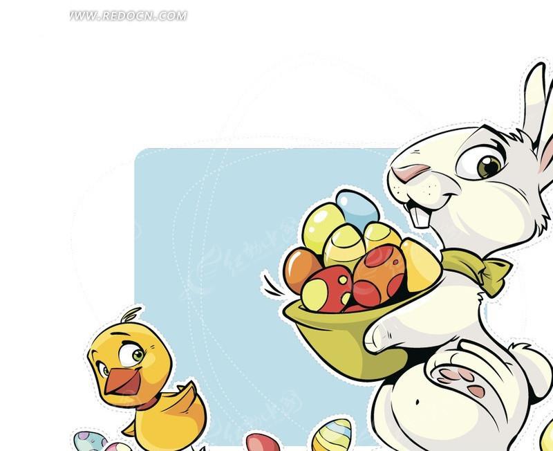 小兔子小鸭子_【金盈】可爱小兔子陶瓷碗小鸭子陶瓷碗造型