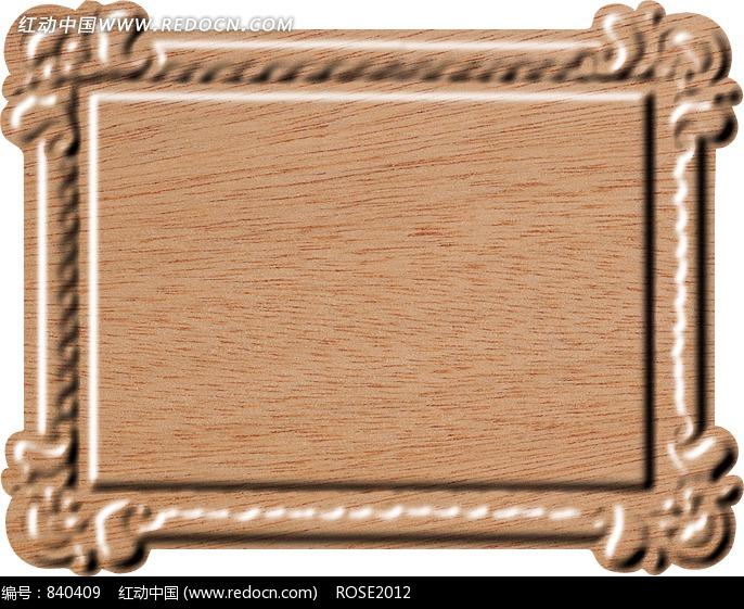 咖啡色的木纹的浮雕状的边框图片